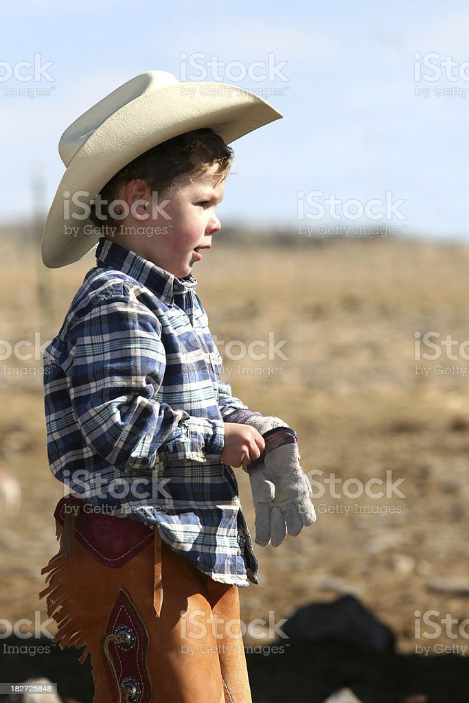 Little Rancher royalty-free stock photo