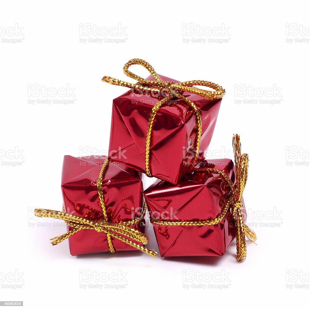 little red gifts royaltyfri bildbanksbilder