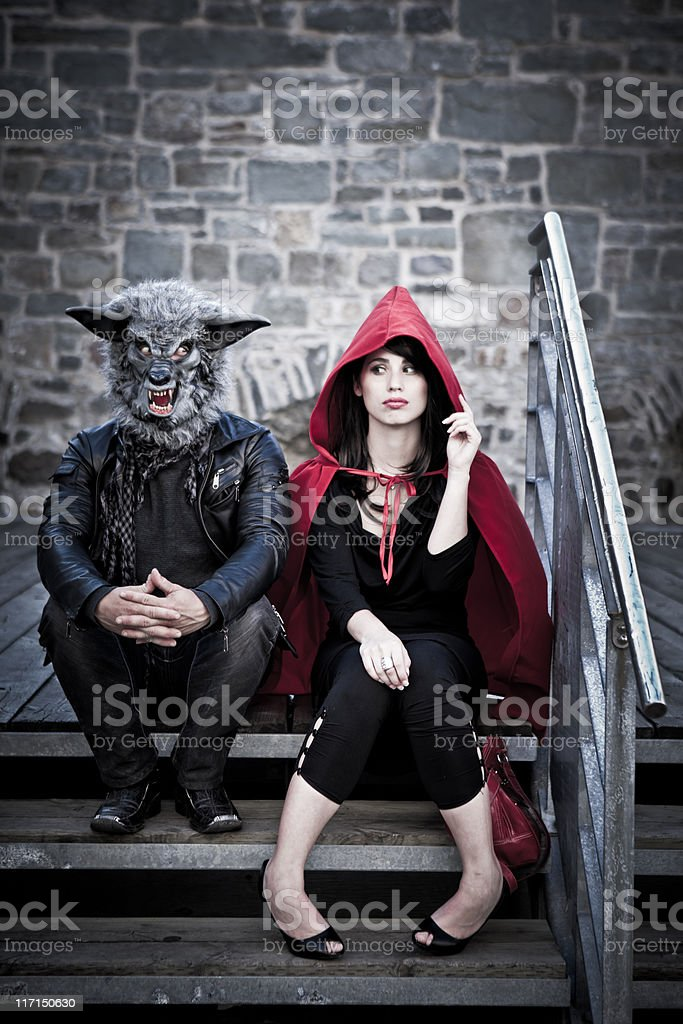 Little Red Ridding-Hood royalty-free stock photo