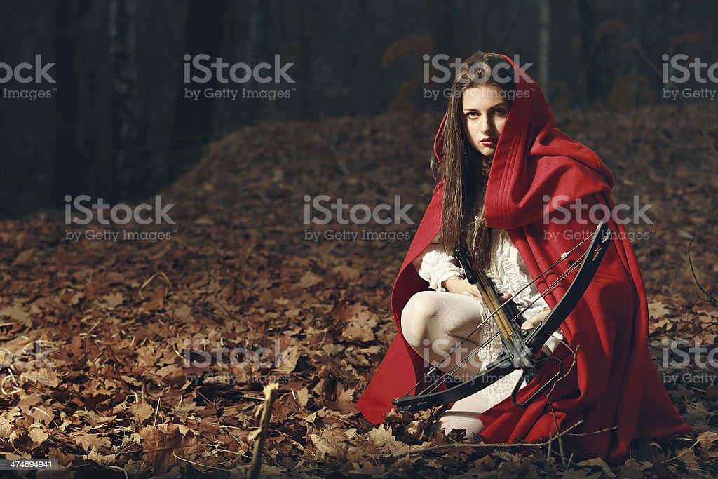 Le petit chaperon rouge dans la Forêt sombre - Photo