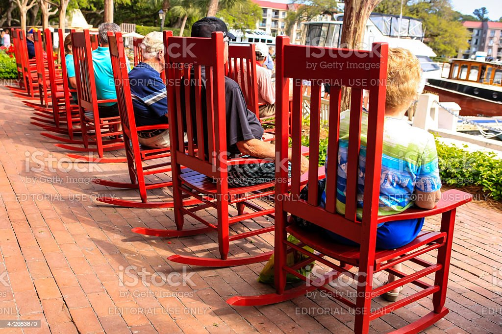 Cool Little Red Rocking Chairs Stock Photo Download Image Now Ncnpc Chair Design For Home Ncnpcorg