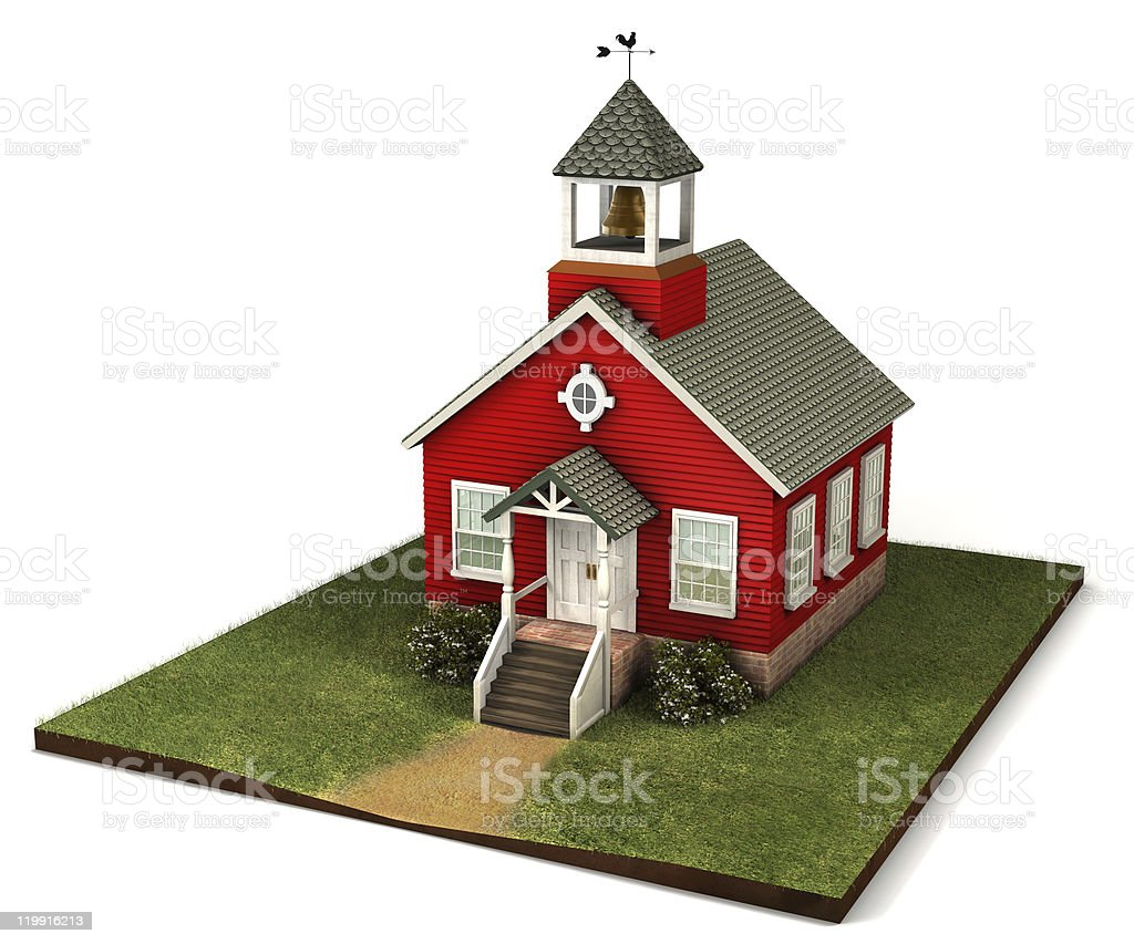 Little Red Schoolhouse stock photo