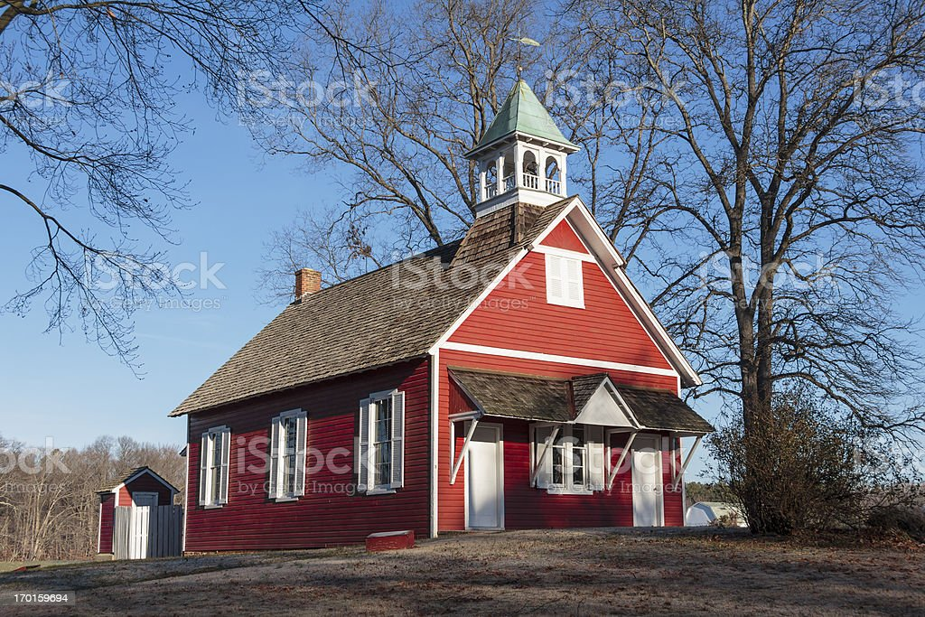 Little Red Schoolhouse royalty-free stock photo