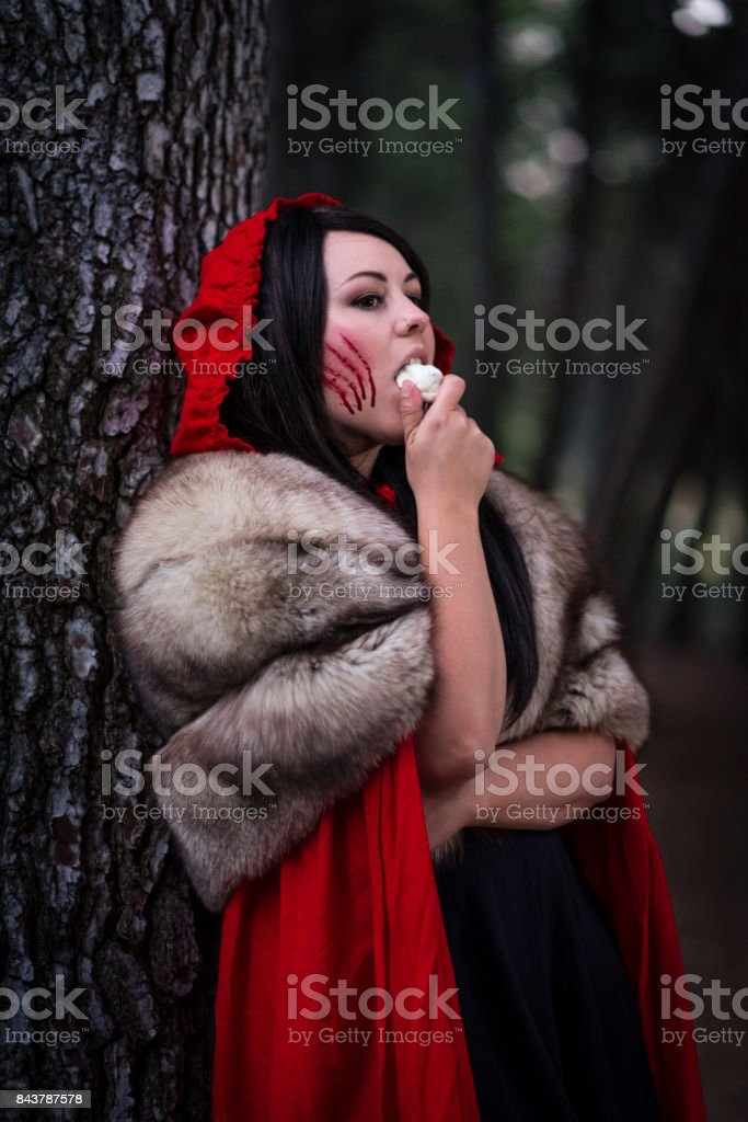 Little Red, The Hunter stock photo