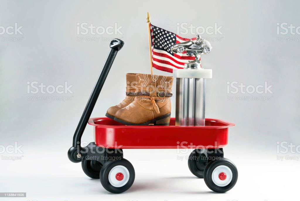 Little Red Wagon With Awards Stock Photo Download Image Now Istock