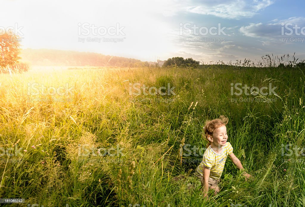 Little redhaired sun royalty-free stock photo