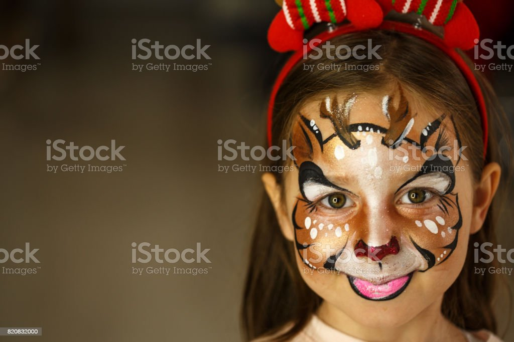 Little Rudolph the red nosed reindeer stock photo
