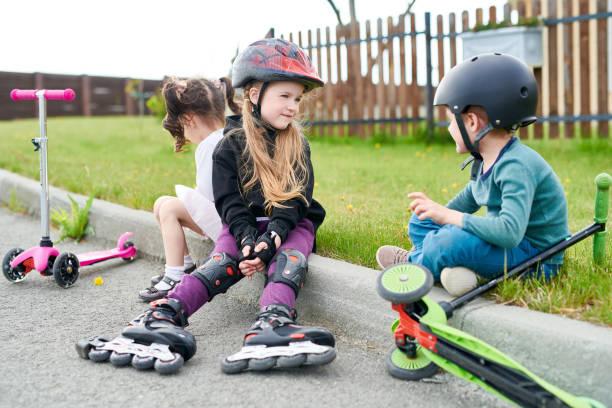 Little Riders stock photo