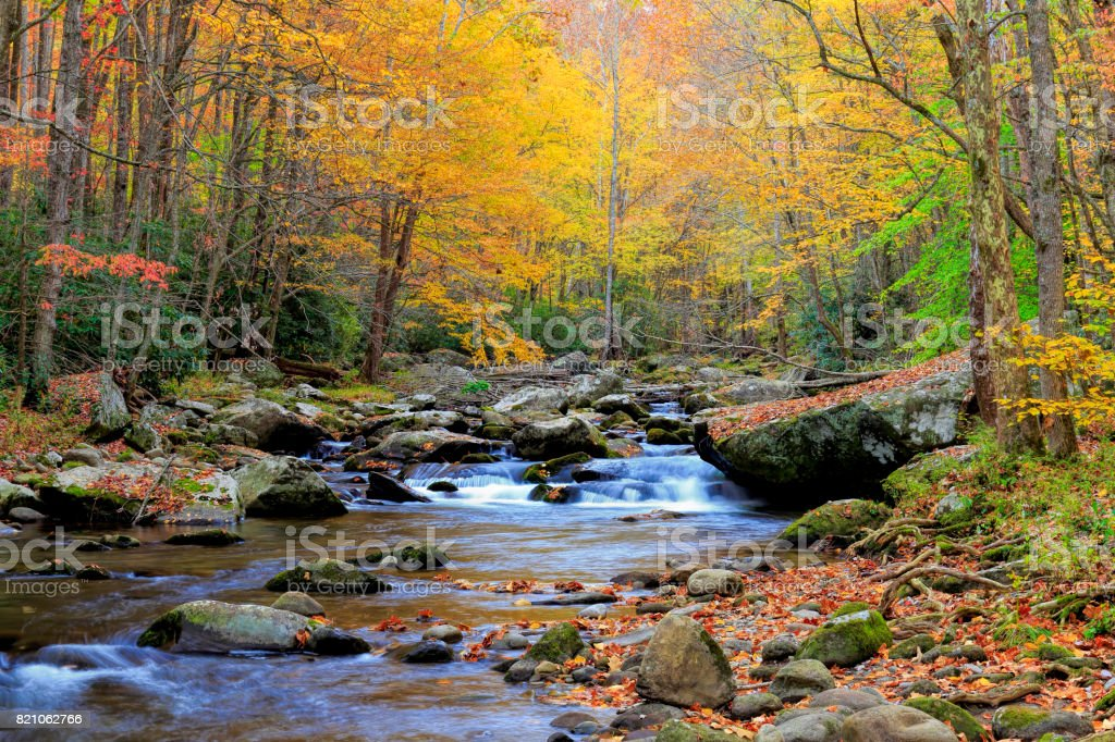 Little River, Great Smoky Mountains National Park, Tennessee stock photo