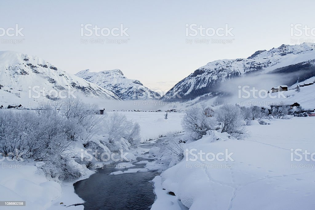 Little river in italian Alps. royalty-free stock photo