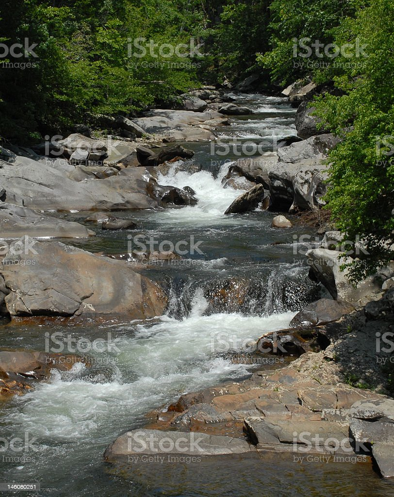 Little River ripples stock photo
