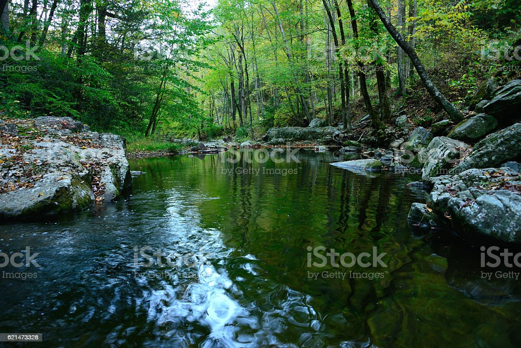 Little River Smoky Mountains Tennessee 2 stock photo