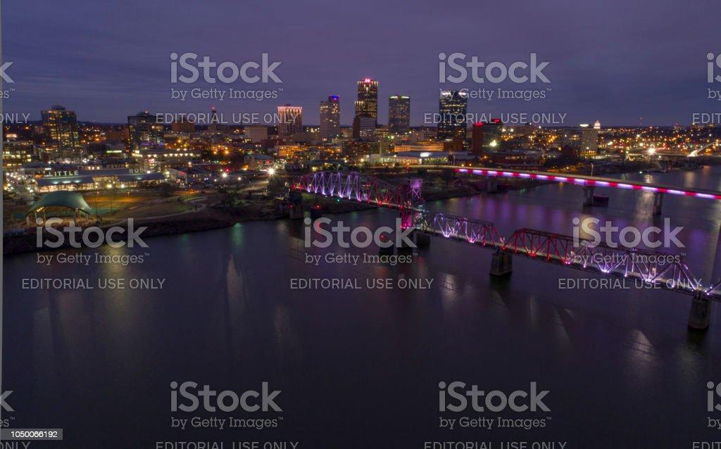 Little Rock Arkansas aerial stock photo