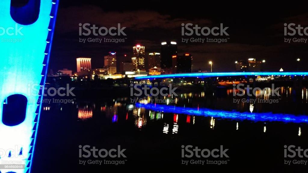 Little Rock night skyline royalty-free stock photo