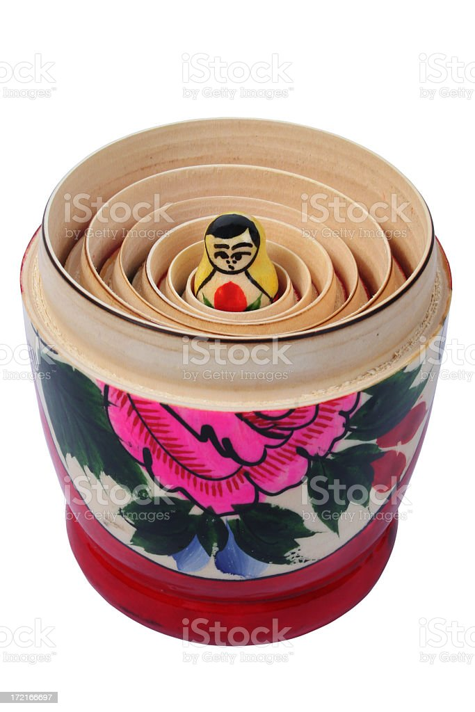 Little Russian Nesting Doll royalty-free stock photo