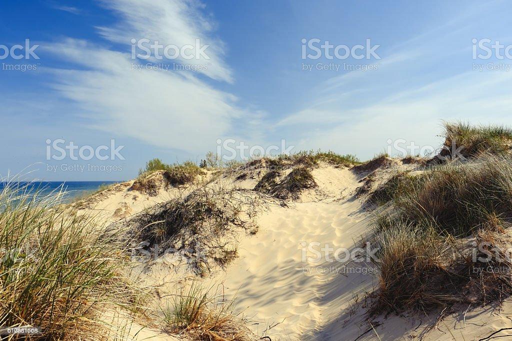 Little Sable Point Dunes stock photo