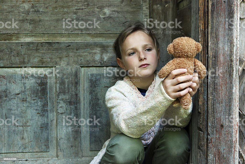 Little sad girl - Royalty-free Child Stock Photo