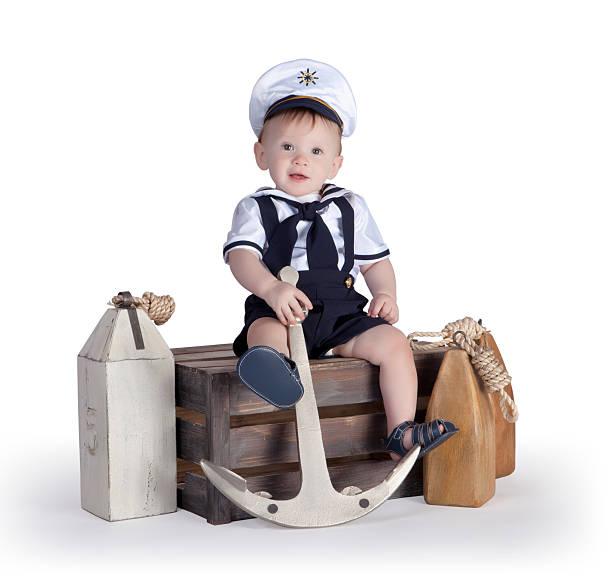 kleine segler 6 - matrosin kostüm stock-fotos und bilder