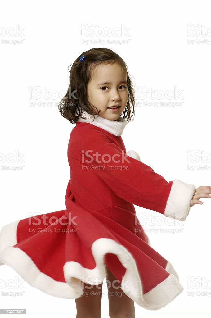 Little Santa Claus - dancing royalty-free stock photo