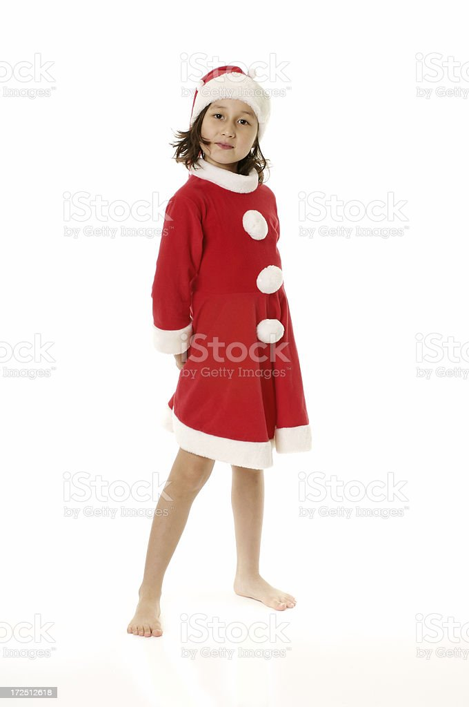 Little Santa Claus - I'm here royalty-free stock photo