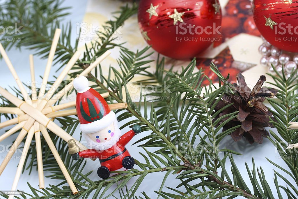 Little Santa Claus in Loppings royalty-free stock photo