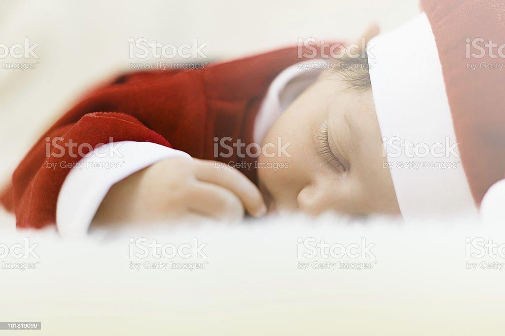 Little Santa Claus royalty-free stock photo