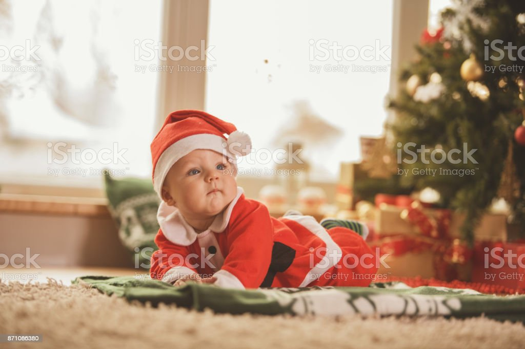 Little Santa Claus stock photo