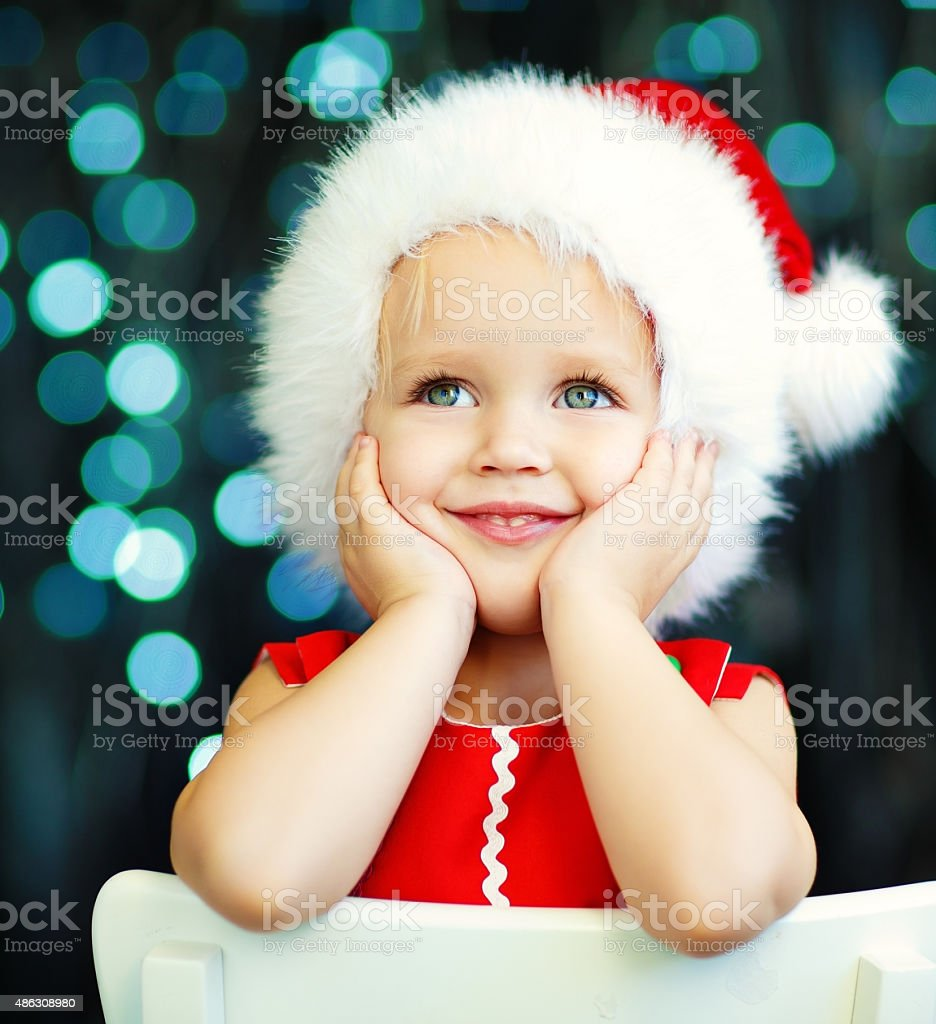 Little Santa helper stock photo