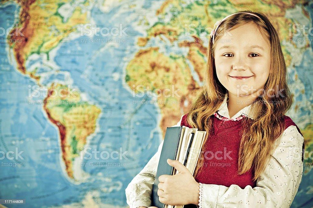 Little schoolgirl royalty-free stock photo
