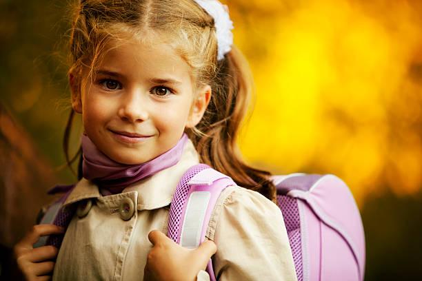Little Schulkind-Nur Mädchen – Foto