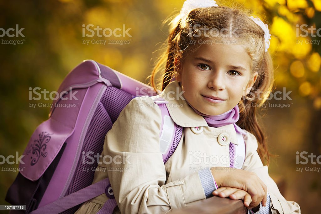 Little Schoolgirl royalty-free stock photo