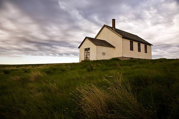 Little Schoolhouse on the Prairie stock photo