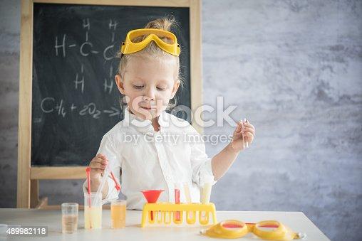 istock Little scientist 489982118