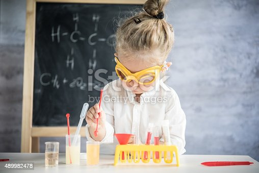 istock Little scientist 489982478