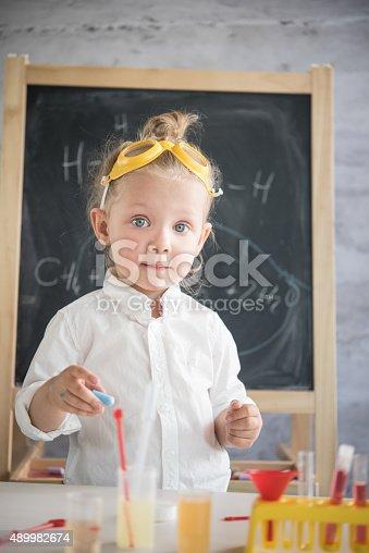 istock Little scientist 489982674