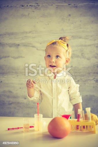 istock Little scientist 492946950