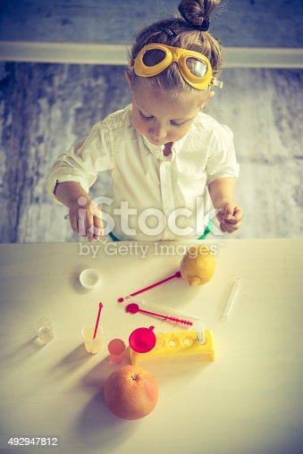istock Little scientist 492947812