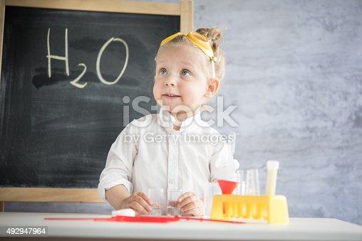 istock Little scientist 492947964