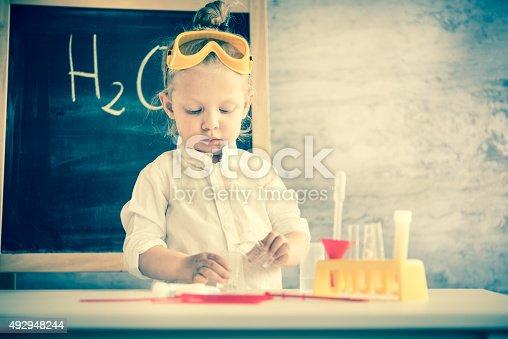 istock Little scientist 492948244