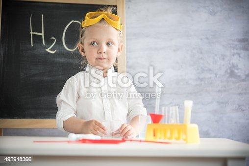istock Little scientist 492948366