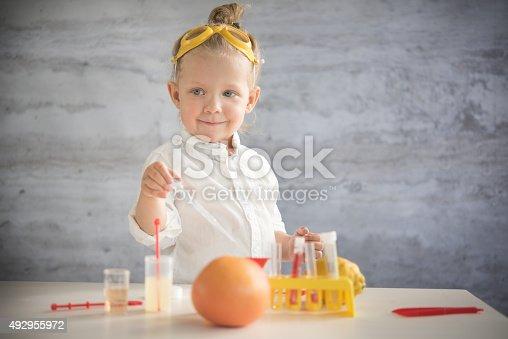 istock Little scientist 492955972