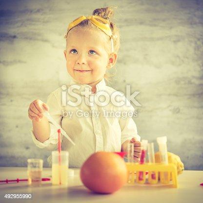 istock Little scientist 492955990