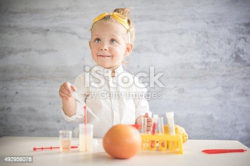 istock Little scientist 492956078