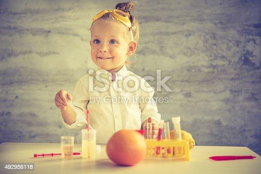 istock Little scientist 492956118