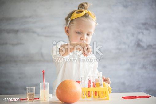 istock Little scientist 492992922