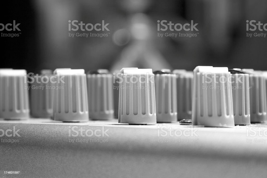 Little semi prof. audio mixer royalty-free stock photo