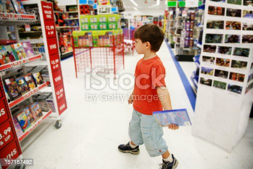 Boy in a toy store.