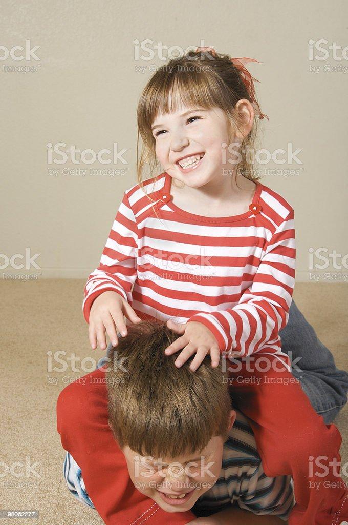 Little Sister Series Stock Photo