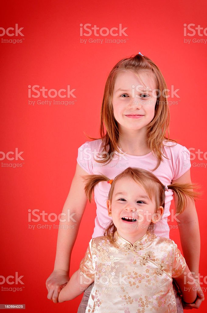 little sisters royalty-free stock photo