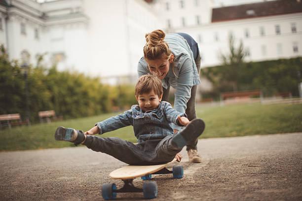 Little skater stock photo